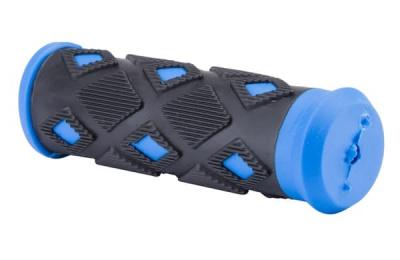 Грипсы TEN-008 98 мм чёрно-синие/150273 - купить в Санкт-Петербурге с доставкой (Артикул: 29211)